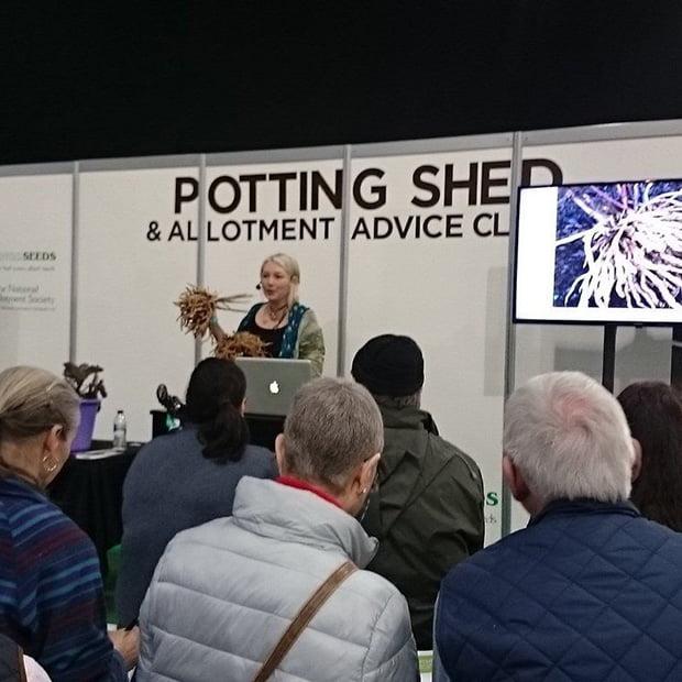 Skirret talk at the Edible Garden Show
